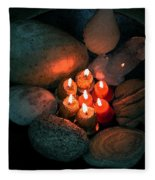 Candle Meet Fleece Blanket