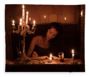 Candlelight Fantasia Fleece Blanket