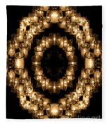 Candles Abstract 6 Fleece Blanket