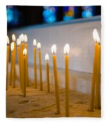 candles in the Catholic Church shallow depth of field Fleece Blanket