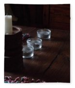 Candles In The Morning Fleece Blanket