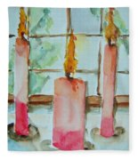 Candles In The Wind-ow Fleece Blanket