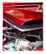 Candy Apple Red Horsepower - Ford Racing Engine Fleece Blanket