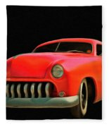 Candy Apple Red  Fleece Blanket