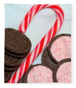Candy Cane -  Cookies - Sweets Fleece Blanket