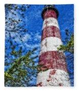 Candy Cane Lighthouse Fleece Blanket