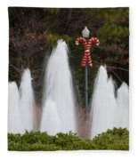 Candy Cane Water Fountain Fleece Blanket