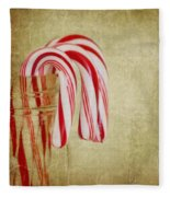 Candy Canes Fleece Blanket
