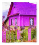 Candy Cottage - Featured In Comfortable Art Group Fleece Blanket
