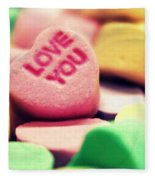 Candy Hearts Fleece Blanket