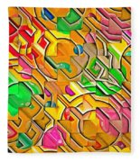 Candy - Lolly Pop Abstract  Fleece Blanket