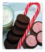 Candycane  Cookies - Milk - Cookies Fleece Blanket
