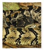 Canebrake Rattlesnake Fleece Blanket