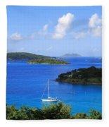 Caneel Bay In St. John In The U. S. Virgin Islands Fleece Blanket