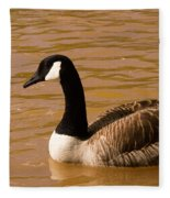 Canidian Goose On Golden Pond Fleece Blanket