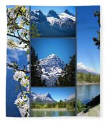 Canmore Alberta Fleece Blanket