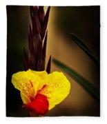 Canna Lily 2 Fleece Blanket
