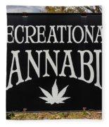 Cannabis Marijuana Store In Ridgway Fleece Blanket