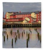 Cannery Pier Hotel Fleece Blanket
