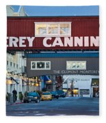 Cannery Row Area At Dawn, Monterey Fleece Blanket
