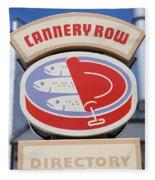Cannery Row Directory At The Monterey Bay Aquarium California 5d25020 Fleece Blanket