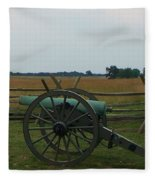 Cannon At Gettysburg Fleece Blanket
