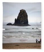 Cannon Beach Run Fleece Blanket