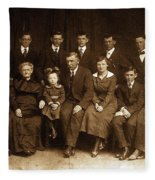 Cannon Family Portrait Circa 1912 Fleece Blanket