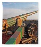 Cannon In Fortress Fleece Blanket