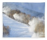 Cannon Mountain Ski Area - Franconia Notch State Park New Hampshire Fleece Blanket