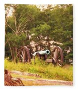 Cannon On Culps Hill Fleece Blanket