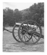 Cannons On Manassas Battlefield Fleece Blanket
