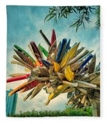 Canoe Art Fleece Blanket