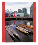 Canoe Club And Telus World Of Science In Vancouver Fleece Blanket