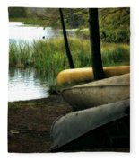 Canoe Trio Fleece Blanket