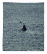 Canoeing In The Florida Riviera Fleece Blanket