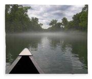 Canoeing The Ozarks Fleece Blanket