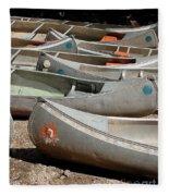 Canoes 143 Fleece Blanket