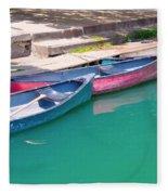 Canoes 3 Fleece Blanket