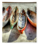 Canoes Fleece Blanket