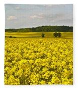 Canola Field Fleece Blanket