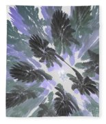 Daytime Jungle Sky By Jammer Fleece Blanket