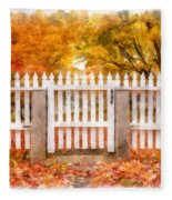 Canterbury Shaker Village Picket Fence  Fleece Blanket