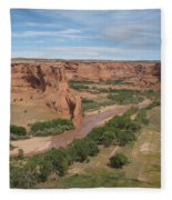 Canyon De Chelly Overview Fleece Blanket
