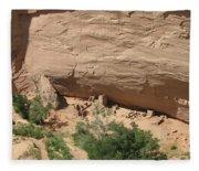 Canyon De Chelly Ruins Fleece Blanket