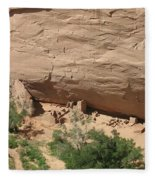 Canyon De Chelly Ruins Fleece Blanket