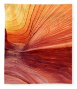Canyon Kissed By The Sun Fleece Blanket