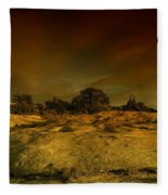 Canyon Land Utah Fleece Blanket