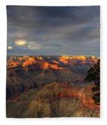 Canyon Sunset Fleece Blanket