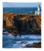 Cape Arago Lighthouse Fleece Blanket